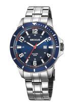 Relógio Masculino Seculus 28987G0SVNA2 46mm Aço Prata -