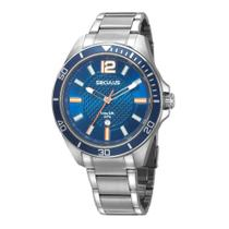 Relógio Masculino Seculus 77036G0SVNA2 48mm Aço Prata -