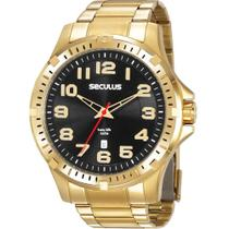 Relógio Masculino Seculus Analógico Dourado 20787GPSVDA3 -
