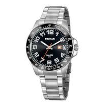 Relógio Masculino Seculus Analógico Prata Aço Calendário 20928G0SVNA2 -