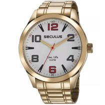 Relógio Masculino Seculus Analógico Visor Branco 23654GPSVDA2 -