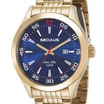 Relógio Masculino Seculus Calendário Visor Azul 23646GPSVDA3 -