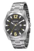 Relógio Masculino Seculus Cromado Analógico 20496G0SVNA2 -