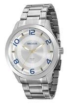 Relógio Masculino Seculus Cromado Analógico 20500G0SVNA1 -