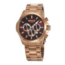 Relógio Masculino Seculus Cronógrafo 13028GPSVRA3 - Rosê -