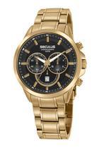 Relogio Masculino Seculus Cronografo Dourado 20617GPSVDA1 -