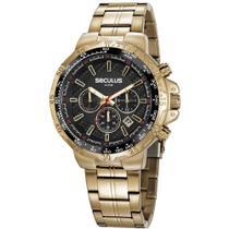 Relógio Masculino Seculus Cronógrafo Dourado 20780GPSVDA1 -