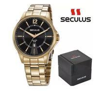 Relógio Masculino Seculus Dourado 35016GPSVDA1 -