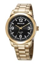 Relógio Masculino Seculus Dourado 5ATM 23639GPSVDA3K -