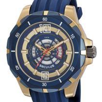 Relógio Masculino Seculus Dourado Grande Visor Efeito 3D -