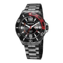 Relógio Masculino Seculus Long Life 23652GPSVPA2 Aço Preto -