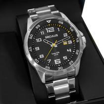 Relógio Masculino Seculus Long Life Prata Aço 20802G0SVNA3 -