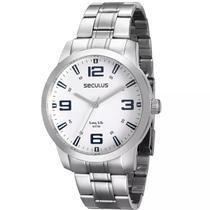 Relógio Masculino Seculus Prateado 28826g0svna2 -
