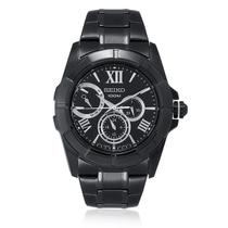 Relógio Masculino Seiko Analógico 5Y66AC/1 Aço Negro -