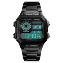 Relógio Masculino Skmei 1335 Esportivo Digital Original Quadrado Preto -