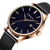 Relógio Masculino Social Luxo Metal E Aço Inoxidável Analógico - Crrju