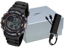 Relógio Masculino Speedo Digital - 81193G0EVNP1K1 Preto com Carregador Portátil
