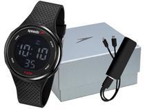 Relógio Masculino Speedo Digital Esportivo - 81218G0EVNP2K1 Preto com Acessórios
