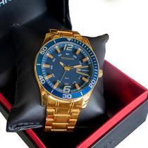 Relógio Masculino Technos Analógico Dourado 2115LAJS/4A -
