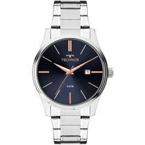 Relógio Masculino Technos Analógico Prata 2115MPM/1K Garantia Um Ano -