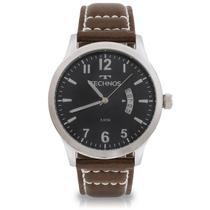 Relógio Masculino Technos  Classic Steel 2115KTO/0P 44mm Couro Marrom -