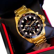 Relógio Masculino Technos Dourado Skymaster JS25CD/4P -