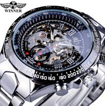 Relógio Masculino Winner Forsining Skeleton Automático Mecânico esqueleto Inoxidável Resistente à água - Winner/Forsining