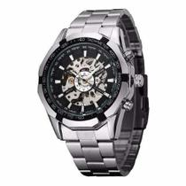 Relógio Masculino Winner Skeleton Automático Tm340b Preto -