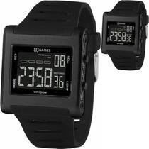 Relógio Masculino X Games Quadrado Preto Digital Negativo Xgppd169 Pxpx - Xgames