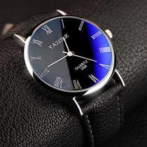 Relógio Masculino Yazole 268 Preto Azulado -