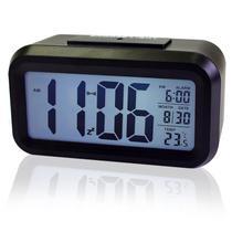 Relógio Mesa Led Digital Calendário Termômetro Alarme Despertador - Mbtech