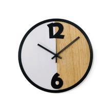 Relógio Metade Branca Decoração Sala Cozinha - Az Design