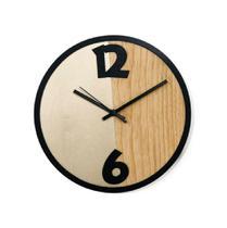 Relógio Metade Dourado Decoração Sala Cozinha - Az Design