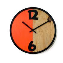 Relógio Metade Laranja Decoração Sala Cozinha - Az Design