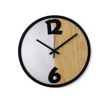 Relógio Metade Prata Decoração Sala Cozinha - Az Design