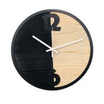 Relógio Metade Preto Decoração Sala Cozinha - Az Design