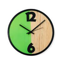 Relógio Metade Verde Decoração Sala Cozinha - Az Design