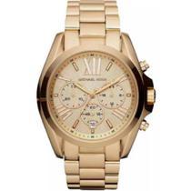 Relógio michael kors clássico dourado mk5605/4dn original -