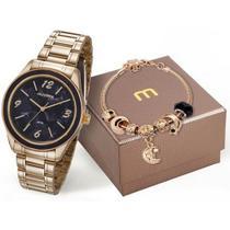Relógio Mondaine Feminino Analógico Dourado 99277LPMKDE2K1 -