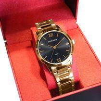 Relógio Mondaine Feminino Analógico Dourado Fundo Preto 53922LPMGDE2 -