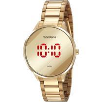 Relógio Mondaine Feminino Dourado 32060LPMVDE1 Digital 5 Atm Cristal Mineral Tamanho Médio -