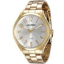 Relógio Mondaine Feminino Dourado 76588LPMVDE1 Analógico 5 Atm Cristal Mineral Tamanho Grande -