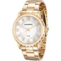 Relógio Mondaine Feminino Dourado 76653LPMVDE1 Analógico 5 Atm Cristal Mineral Tamanho Grande -