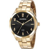 Relógio Mondaine Feminino Dourado 76726LPMVDE2 Analógico 5 Atm Cristal Mineral Tamanho Grande -