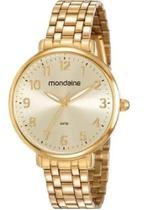 Relógio Mondaine Feminino Dourado Analógico 53779lpmvde1 -