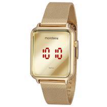 Relógio MONDAINE feminino espelhado digital 32171LPMVDE1 -