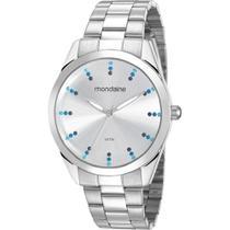 Relógio Mondaine Feminino Prata 53672L0MVNE3 Analógico 5 Atm Cristal Mineral Tamanho Grande -