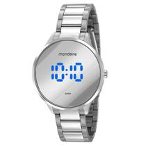 Relógio MONDAINE feminino prata espelhado 32060L0MVNE4 -