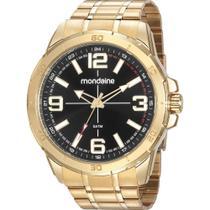 Relógio Mondaine Masculino Dourado 53832GPMVDE1 Analógico 5 Atm Cristal Mineral Tamanho Grande -