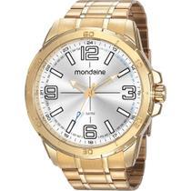 Relógio Mondaine Masculino Dourado 53832GPMVDE2 Analógico 5 Atm Cristal Mineral Tamanho Grande -